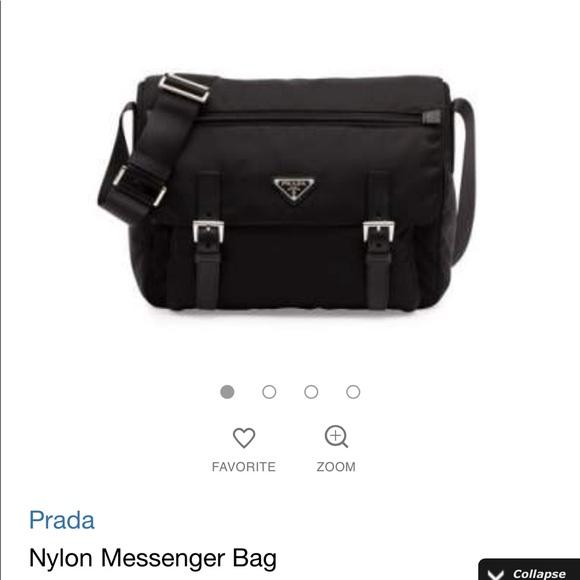 f04462d9229c ... new arrivals authentic prada nylon messenger bag 90208 3ad99